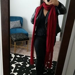 Express dramatic red scarf